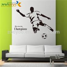 Zooyoo vinyl football wall decals room decor wall stickers home decoration modern wall art