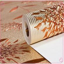 5.3 square Popular High Quality Good price beautiful foil metallic wallpaper interior decoration