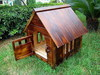 Wooden outdoor dog house