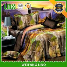 100% polyester 3d printing china duvet cover set/elephant duvet cover sets