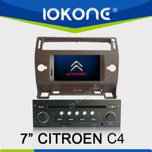 "2005-2009 factory 7"" HD Touch screen citroen c4 car dvd player with gps navigation and bluetooth TMC, camera, mic, dvb-t"