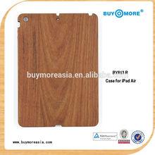 Original Natural Real Wood Grain Smart Cover Case Standing for iPad Air 5 real wood cse