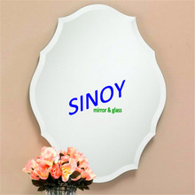 Factory sells silver decorative mirrors with silkscreen printing and sandblasting service available