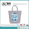 grey printed canvas bag wholesale promotional shopping tote bags