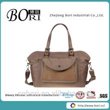 low price popular coffee nylon women handbags for old