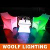 Garden Decoration Plastic LED Illuminated Coffee Relax Chair