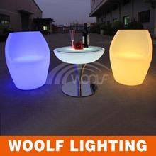 Iluminado silla de la barra / del club de noche de luz led decoración de pasteles silla