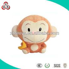OEM Soft Custom Cute Mini Stuffed Monkey Keychain