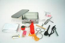 High quality emergency factory mini tin box camping survival kit