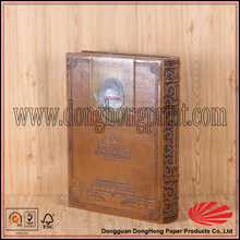 Alibaba supplier book shape faux leather collections box