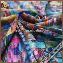 Custom drapery poly satin digital print fabric in high quality for garments