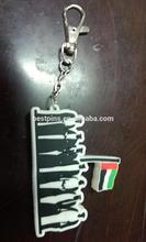 43 UAE national day gifts rubber keychain soft pvc key chain key ring