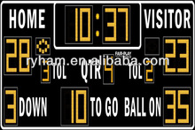 Ultra red digits led football scoring sign boards
