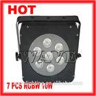 Hot WLP- 16-3 professional 7 pcs RGBW(A) 4 in 1 10w leds indoor disco par led dmx wash flat