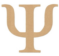 2015 New China wooden letter design hot sale wholesale fashion alphabet Psi decoration wood ornament laser cut greek products