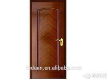 lower price modern style carved mdf veneer arch rail wood panel door