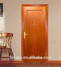 modern style MDF door design carving interior natural wooden door designs
