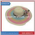 Chegada nova professional safari chapéu de palha