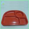 Durable eco-friendly children melamine dinner tray