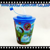 hard plastic cup with lid and straw reusable plastic cup