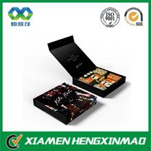 Luxury handmade suhsi box, paper square sushi box, to go box for sushi shop