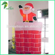 Guangzhou Popular WonderfuL Santa Outhouse Christmas Inflatable Decoration