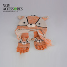 cute tiger style kids acrylic winter hat makers