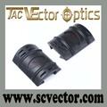 vector óptica táctico guardamanos carril weaver picatinny cubierta de goma 1 par 2 pcs