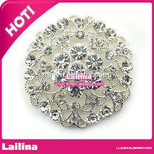Authentic Designer Crystal Circle Pendant Fashion Necklace New