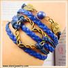 Infinity Bracelet Love bracelet Charm Bracelet Bronze Bracelet Black Wax Cords Blue Leather friendship jewelry bracele