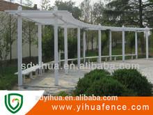 Yihua barato de jardín de PVC barandillas de los balcones de pérgola