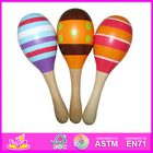 2014 New wooden baby maracas,popular colorful baby maracas toy,hot selling wooden music toy baby maracas set W07I024