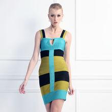 occidental de alta calidad del sexo bodycon corta damas vendaje 2015 vestido nuevo estilo de moda