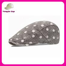 Dot Pattern Retail Sell Fashion Gatsby fabric Wholesale custom fashion beret women ivy caps