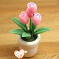 En miniatura casa de muñecas 1:12 japonés artificial flor de la arcilla