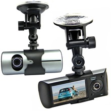 "2.7"" X3000 Dual Lens Car Camera DVR Dash Board Car Blackbox Vehicle Video Recorder+GPS+G-sensor+Cycle Recording+Support 32GB TF"