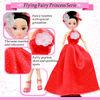 Wedding Decoration High Heel Shoes Girl Dolls in Red Bride Dress 92107