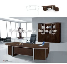 HAIJING A111 wooden frame commercial leather wood italy leather desk