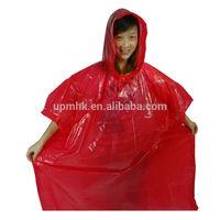 Promotional Customer design Pantone Colored Gravure Printing PE Rain Poncho