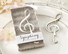 metal music shape bottle opener wedding gifts wholesale
