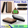 Univesal manual adaptor battery bank fit for travel emergency mobile power 12000 mah