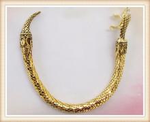 China supplier gold finish 2014 fashion new design 14k gold snake bangle bracelet