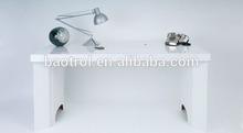 Glacier white modern table design cheap study table