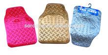 new design fashional aluminum color car floor mat with pvc back