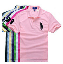 2014 New Famous Brand Classic 100% Cotton Breathable Men's Turn-down Collar Tshirt 2014 men polo t-shirt