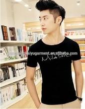 mild pierce printed100% cotton 2014 new fashioon men t shirt