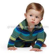 Listrado macacão roupas de bebê de algodão preço de atacado ( BS-0016 )