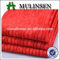 Mulinsen textil de poliéster Spandex Color rojo teñido Jacquard y Dobby tela