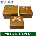Eco- ambiente personalizado caliente venta de cartón corrugado de color marrón brownie empaquetado de la caja