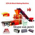 Qtj4-26 blocos máquinas pode fazer tijolos e pavers / manual de bloqueio do tijolo que faz a máquina